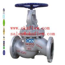 12  DIN 1.0619 flange globe valve/sales@oknflow.com