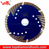 Hot Press Sintered Turbo Diamond Saw Blade with Side Protection Teeth