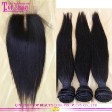 Virgin brazilian hair 3 bundles, virgin hair bundles with lace closure