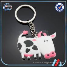 Keychain de vache pvc sedex 4p