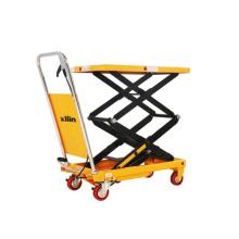 Xilin Hand scissor lift trolley Hydraulic lifter lift table 150KG 330LBS Hand lift table