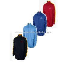 2014 custom costela mock pescoço mens track jaqueta