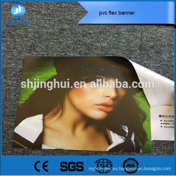 Material de publicidad 260g impresión a color de la bandera del pvc a todo color para ir de compras