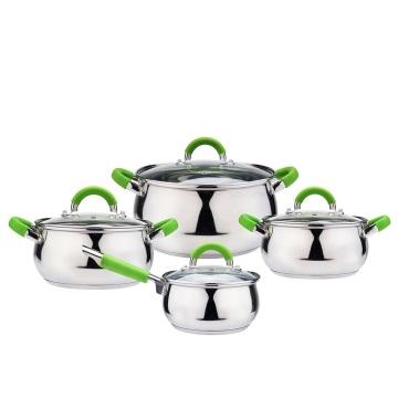 Apple Shape Induction Cooking Pot Cookware Set