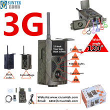 Câmera selvagem do comando 3G de 12MP FHD MMS GPRS SMS nenhum flash WCDMA HC500G para o animal de seguimento