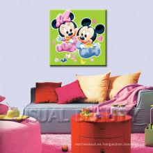 Pintura mural de la historieta para el dormitorio de los cabritos