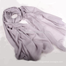 100% cashmere solid color embroidered pashmina shawl