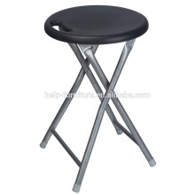 Cheap distressed cushion round folding stool