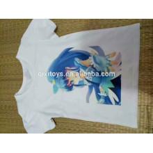 Promocional barato camisa branca T impressão digital T camisa personalizada