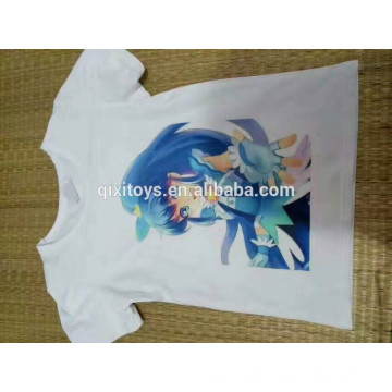 Promotional cheap white T shirt digital printing custom T shirt