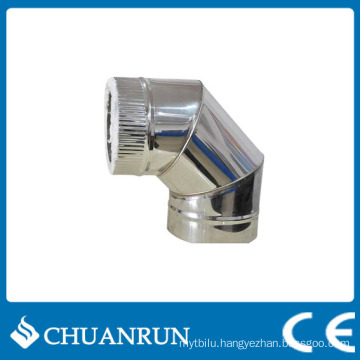 90 Degree Double Wall Elbow Pipe for Pellet Stoves