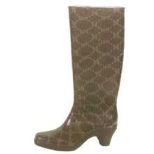 Women's High Heel Pvc Rain Boots