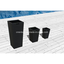 Rattan Flower Pots for Outdoor & Indoor & Garden with Aluminum / SGS
