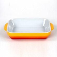 Factory Direct Hot Sale Square Bread Ceramic Cake Baking Tray