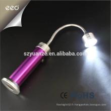 9 lampe torche à LED magnétique, lampe torche à base magnétique led, lampe de poche à induction magnétique