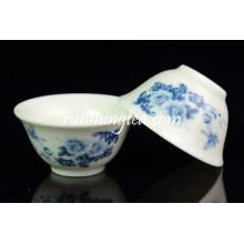 Kleine blaue Pfingstrose Teetasse Set