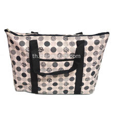 600D Fashiion พิมพ์ Zipper Shopping Hand Bag