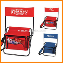 Foldable chair with bag,portable folding chair cooler with zippered front pockets