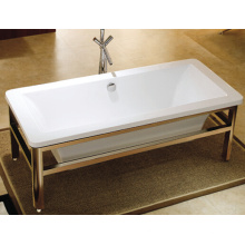 Cupc Stainless Steel Frame Freestanding Bath