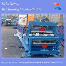 China Fabrica fazendo telhas metálicas Doulbe Layer Roller Machines Empresas em Hebei