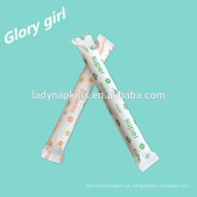Marca de higiene feminina 100% tampão aplicador orgânico de shenzhen