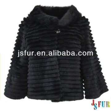2013 New product stylish beautiful party lovely black rabbit fur wholesale fur coats