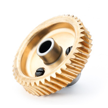 Cheap Precision Bronze Worm Wheel with Hub