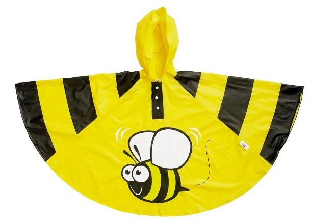 bee children rain poncho