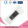Wholesale ultra soft cotton cover bamboo charcoal anion panty liners