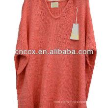 12STC0629 chandail de style coréen à capuchon pour femme