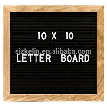 Venda quente de madeira 10x10 feltro carta