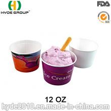 Copo de papel descartável de sorvete, papel Bowl (12oz-1)