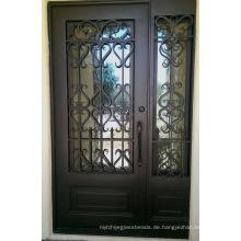 Außentüren aus Schmiedeeisen mit gehärtetem Glas