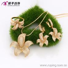 63229- xuping luxury 18 carat pakistani gold jewelry sets