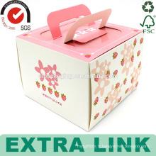 conception d'emballage de couleur rose personnalisé clair tasse papier anniversaire papier tasse gâteau boîte