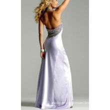 Spangle Backless Maxi Evening Dresses For Weddings With Sleeveless