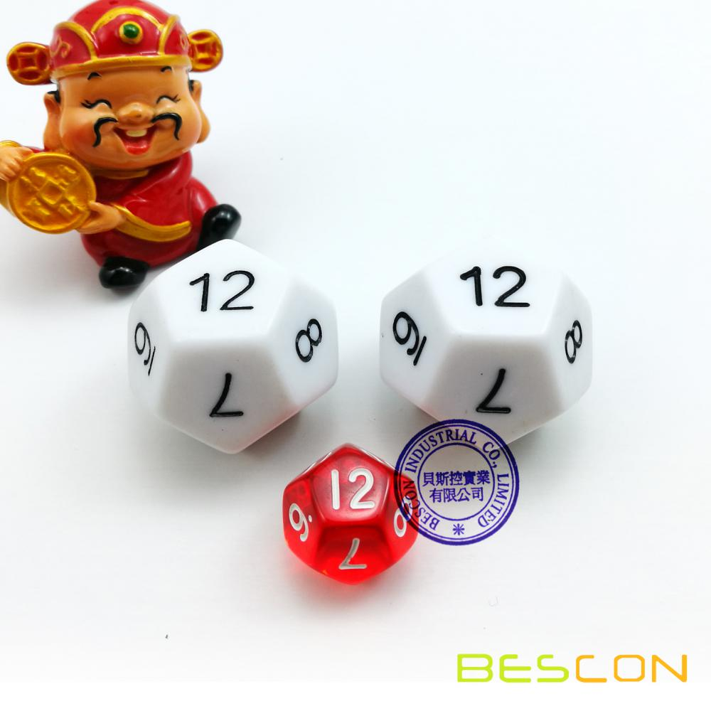 Big Sized 12 Sides Dice in Various Colors
