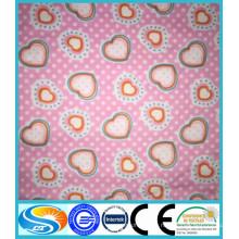 100% coton imprimé flanelle / flanelle tissu
