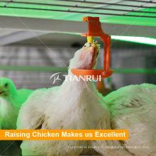 Système potable automatique de mamelon de volaille pour la ferme de poulet