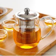 Heiß-Verkauf handgefertigte Pyrex klar marokkanische Teekanne