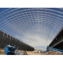 Bogen-trockenes Kohlen-Speicher-Schuppen-Stahlraum-Rahmen-Dachsystem