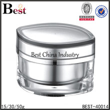 50g skin cream acrylic jar cat eye shape for cosmetics, free sample for small order, embossing cap acrylic cream jar