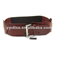 2013 Fashion Women's red elastic and real leather belts