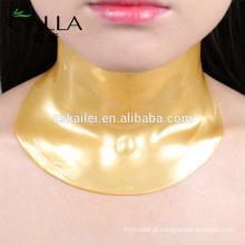 Folha nano da máscara do pescoço do enrugamento do ouro de 24k nano anti