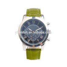 Relógios feitos sob encomenda de quartzo do verde-oliva da correia do verde azeitona do logotipo