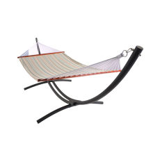 Steel hammock swing bed set with sapce-saving stand