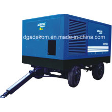 Electric Driven Portable with Wheels Screw Air Compressor (PUE185-10)