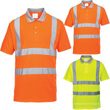 Polo en jersey simple 100% coton Hi-Viz