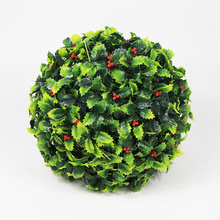 Home interior outdoor preserved boxwood double ball for balcony