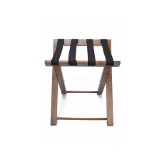 BSCI Factory FSC Wood Foldable Luggage Rack For Hotel Supplies